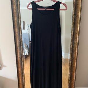 Eileen Fisher black system viscose dress